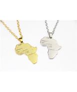 African Map Silver Gold Color Pendant  Africa Necklace Women Men Hip Hop... - $7.14