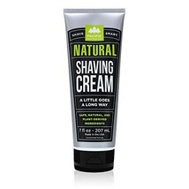Pacific Shaving Company Natural Shave Cream - with Safe, Natural, and Plant-Deri