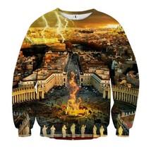 Italy Vatican Square Holy City Fantasy Theme Sweatshirt - $36.99