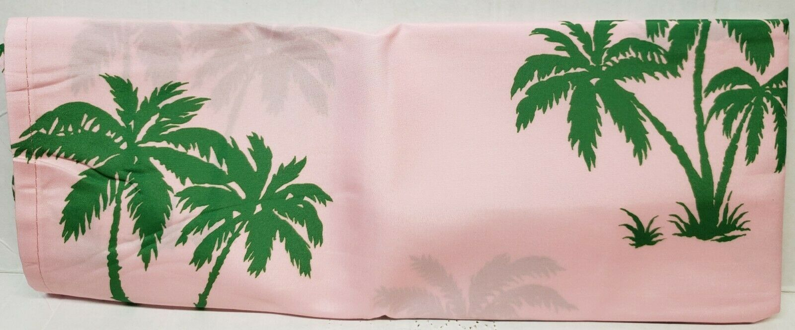 "Primary image for 3Pc. Curtains Set:2 Tiers(26""x36"") & Valance(52""x12"")GREEN PALM TREES ON PINK,MS"