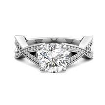 3.05 tcw Round Charles Colvard Moissanite Diamond Engagement Ring 14k W ... - $2,018.61