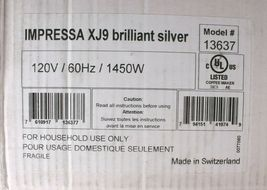 JURA Impressa XJ9 Professional Coffee Expresso Machine Brilliant Silver 13637 image 10