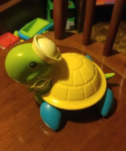 Fisher Price Tag Along Toy- Tag Along Turtle with Sailor Cap 1977  - $10.00