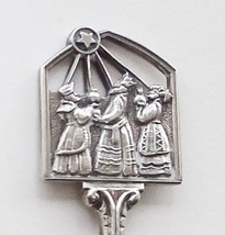Collector Souvenir Spoon Christmas 1988 Wise Men Star of Bethlehem Noel ... - $4.99