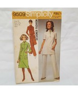 Misses Dress Tunic Pants Pattern 9509 Size Small 10 Simplicity Uncut 1971 - $14.99