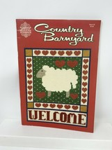 PAT & GLORIA COUNTED CROSS STITCH PATTERN BOOK COUNTRY BARNYARD #26 1984... - $10.29