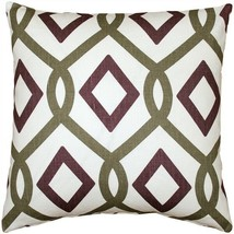 Tuscany Linen Sage Diamond Chain Throw Pillow 18X18 (NB1-0013-01-18) - $49.95