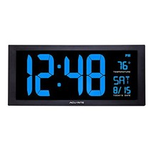 AcuRite 76100M Oversized LED Clock with Indoor Temperature, Date and Fol... - $88.58