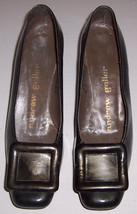 Vintage Andrew Geller Ladies Brown Patent Leather Shoe W/ Design SIZE 7.... - $35.99