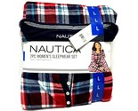 Nautica Women's 2 Piece Silky Stretch Fleece Pajama Sleepwear Gift Set (Large)