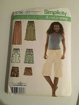 Simplicity Sewing Pattern 3796 Skirt Pants Sizes16 18 20 22 24 New Packa... - $8.66