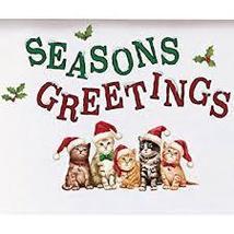 Santa Cats Seasons Greetings Garage Magnets  - $5.95
