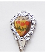 Collector Souvenir Spoon October Pom Pom Marigold Happy Birthday - $2.99