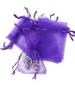 "24pk PURPLE Organza Baggies 3"" x 4"" Halloween Party Candy Bag Favors - $6.76"