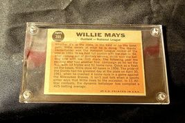 Willie Mays Baseball Trading Card # 395 Outfield- Nash AA19-BTC4006 Vintage Coll image 6