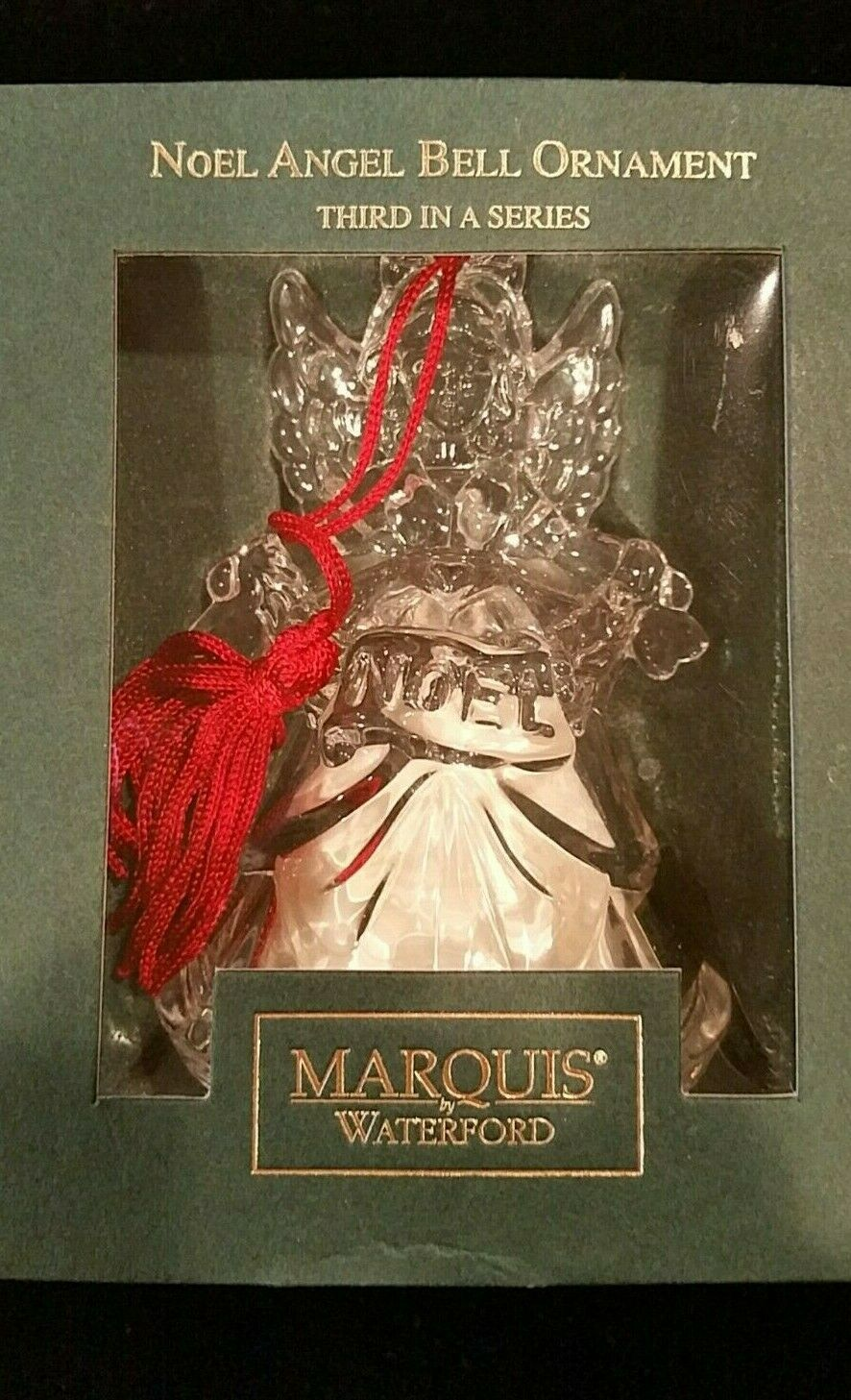 Waterford Crystal Marquis Noel Angel Bell Christmas Ornament Third in a Series image 10