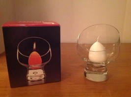 DANSK Candlelight Mid Century Modern Clear Glass Bowl Asymmetric Belgium - $22.24