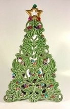 """2006 Ceramic 14"""" Christmas Tree Candle Holder Jewels SEE DESCRIPTION - $28.45"""