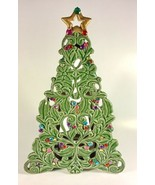 "2006 Ceramic 14"" Christmas Tree Candle Holder Jewels SEE DESCRIPTION - $28.45"