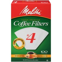 Melitta Coffee Filters, #4 - 100 Count. Case of 12 Boxes - $55.05