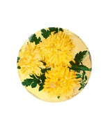 Vintage Yellow Flowers Cookie Tin - Mrs. Stevens, Chicago Bakery Round M... - $21.04