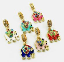Elephant Pendant Charm Bead Fit Necklace Bracelet - $0.99