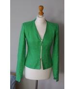 Martine Abate London designer spring green colourful jacket, hipster ja... - $75.00