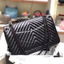 Chanel Black 2.55 Reissue SO BLACK CHEVRON Calfskin 227 Jumbo Double Flap Bag image 8