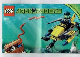 LEGO Aqua raiders 7770 instruction Booklet Manual ONLY - $5.00