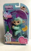 BRAND NEW Authentic WowWee Fingerlings Baby Monkey Zoe Interactive Toy Turquoise - $15.83
