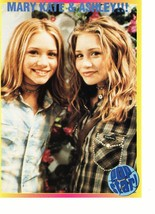Mary Kate Olsen Ashley Olsen teen magazine pinup clipping brown shirt Popstar