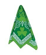 Shamrock Clover Green Irish Bandana Bandanna St Patricks Day / Hiking / ... - $6.12