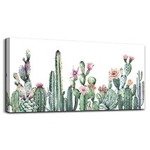Canvas Art Simple Life Green Cactus Desert Plant Painting Wall Art Decor... - $56.64