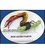 1972-1989 Lincoln Continental Town Car Power Window Adjust Switch Wiring... - $34.60