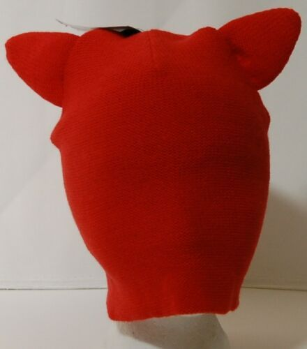 Red Stocking Cap Two and a Half Inch Cat Ears Acrylic New