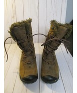 U Keen Warm Waterproof Womens 7 Winter Snow Low Boots brown fur/fleece l... - $64.34