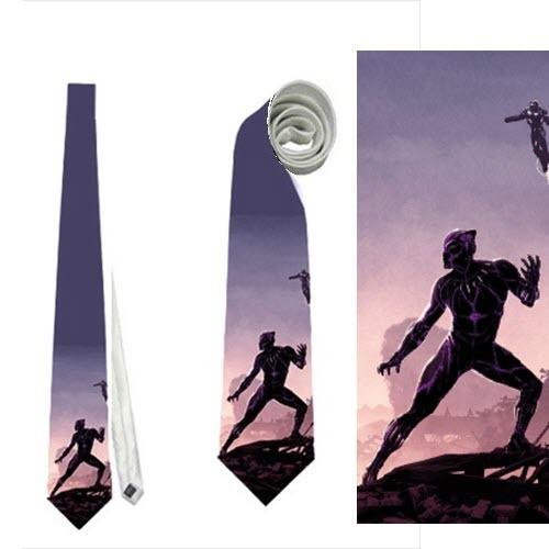 necktie black panther avengers neck tie