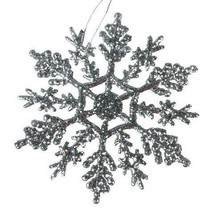 Darice Christmas Snowflake - Silver - 4 inches - 10 pieces w - $5.99