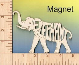Elephant laser cut and engraved wood Magnet - $6.00