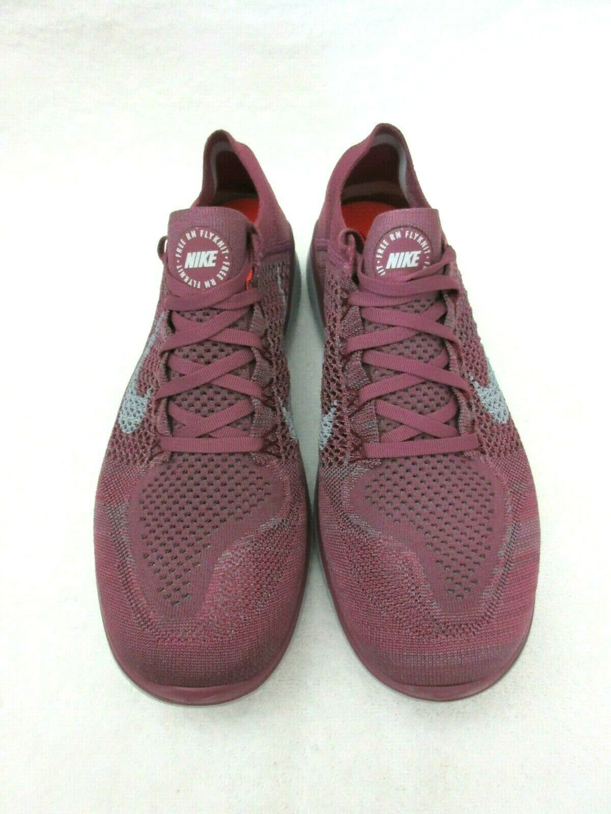 Nike Mens Free RN Flyknit 2018 Running Shoes Vintage Wine Wolf Grey Size 11.5