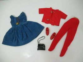 Vintage Ideal Tammy doll's Cutie Coed blue jumper dress set necklace sho... - $69.29