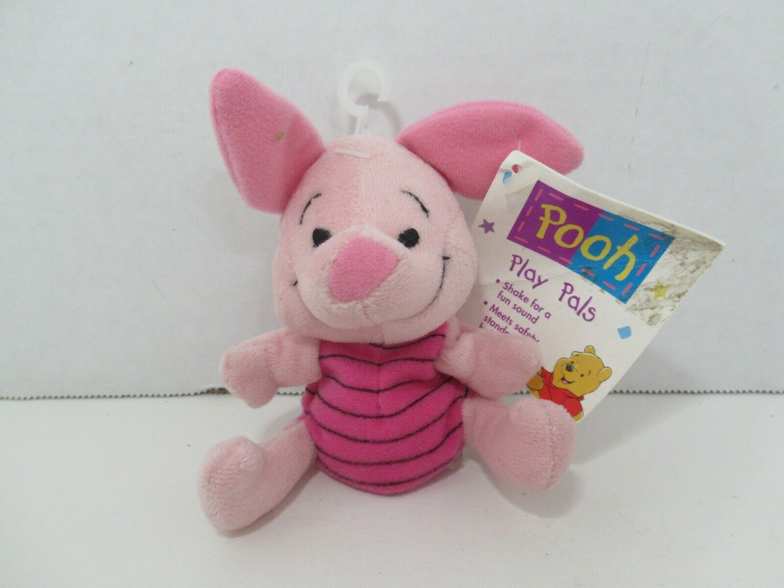 Primary image for The first Years Winnie the Pooh's Piglet Plush rattle soft toy Vintage 1997 tag