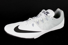 Nike men's zoom rival track spikes white black racing sprint size 13 - $35.62