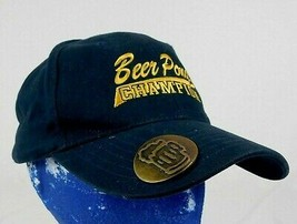Beer Pong Champion Black Baseball Cap Hat Built in Opener Box Shipped - $11.99