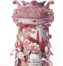 Lladro 7032 Ladies In The Garden VASE-RED (RE-DECO) 01007032 Limited Edition New - $5,445.00
