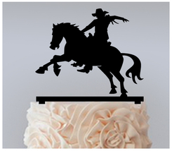 Wedding,Birthday Cake topper,Cupcake topper,silhouette cowboy Package : 11 pcs - $20.00