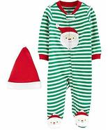 Carter's Baby Boys' Santa 2 Piece Sleep N' Play Pajama Set (9 Months) Green - $15.34