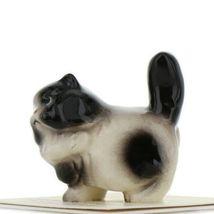 Hagen Renaker Miniature Cat Fat Black and White Ceramic Figurine image 3