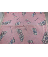 "FlannelDouble SidedBaby Girl Receiving BlanketHand Crochet Edge 34"" s... - $19.79"