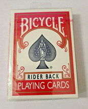 Red Bicycle Rider Back Deck of Playing Cards   (#41) image 2